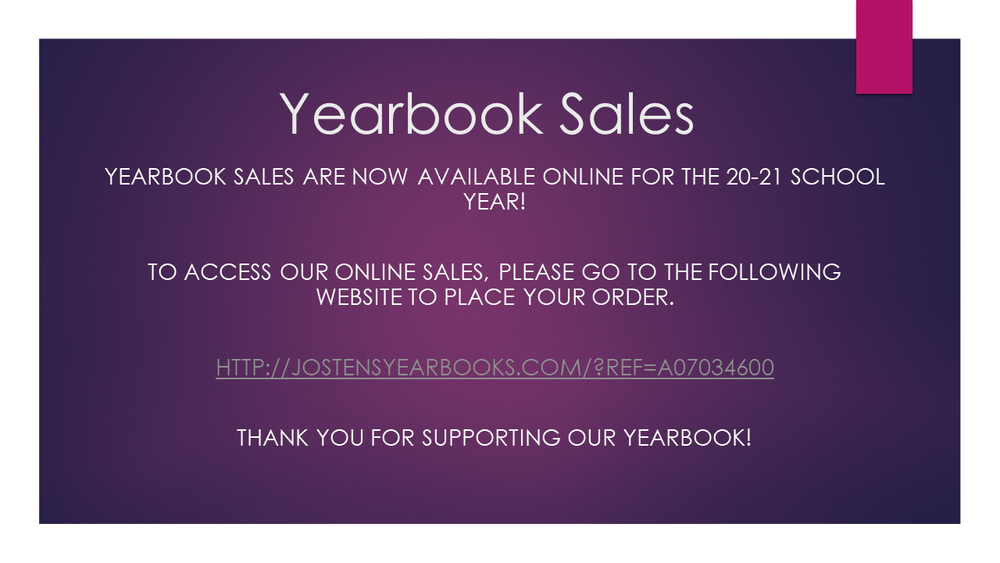 OJSH 2020-2021 Yearbooks on Sale NOW