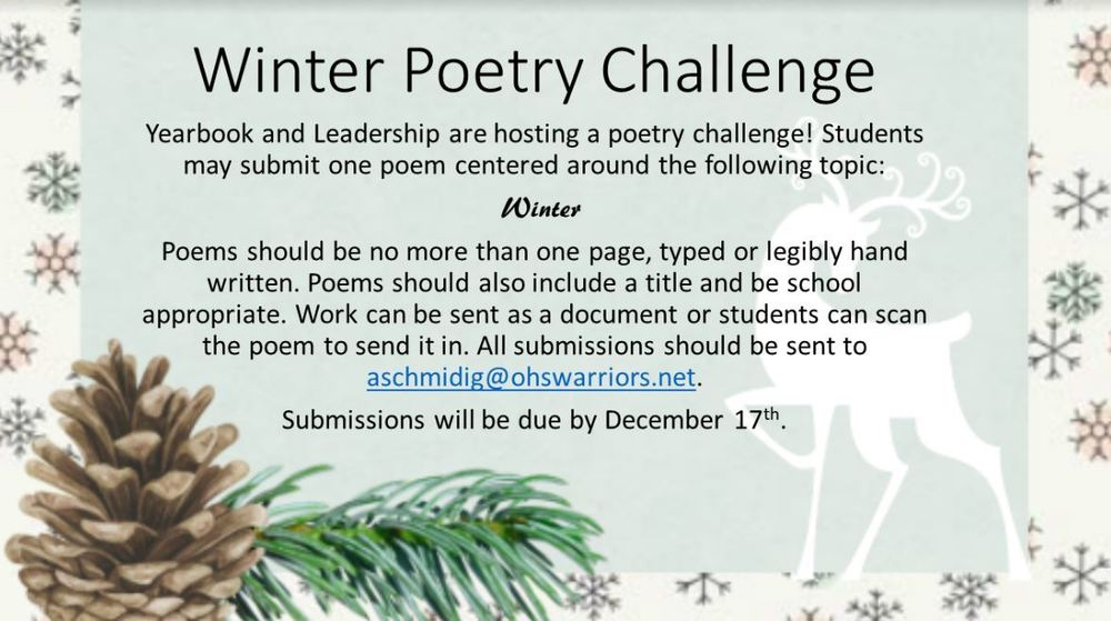 OJSH Winter Poetry Challenge