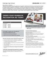 OJSH Order Your Yearbook Ad Today!